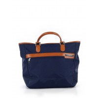 Women Tote Navy Blue Color blocked detail 41369266 OHOFIAB
